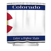 Colorado State License Plate Shower Curtain