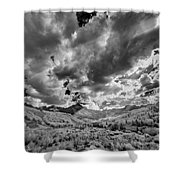 Colorado Sun Rays II Shower Curtain