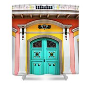 Colorful Door Shower Curtain