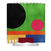 Colorful Geometric Abstract 4- Art By Linda Woods Shower Curtain