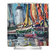 Colorful Harbor Shower Curtain