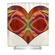 Colorful Heart - Naked Truth - Omaste Witkowski Shower Curtain by Omaste Witkowski