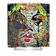 Colorful Makeup Shower Curtain