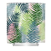 Colorful Palm Leaves 2- Art By Linda Woods Shower Curtain