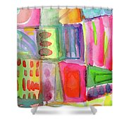 Colorful Patchwork 2- Art By Linda Woods Shower Curtain