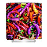 Colorful Peppers Shower Curtain