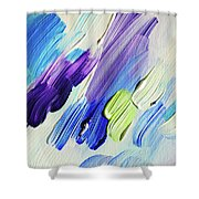 Colorful Rain Fragment 2. Abstract Painting Shower Curtain