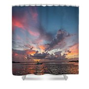 Colorful Sandsprit Sunrise Shower Curtain by Tom Claud