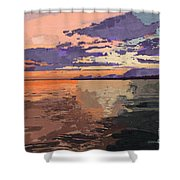 Colorful Sunset Over The Gulf Of Mexico Shower Curtain