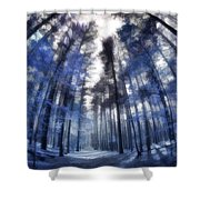 Colorful Trees Iv Shower Curtain