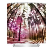 Colorful Trees V Shower Curtain