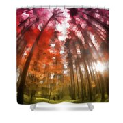 Colorful Trees Vii Shower Curtain