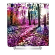 Colorful Trees Xii Shower Curtain