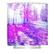 Colorful Trees Xv Shower Curtain