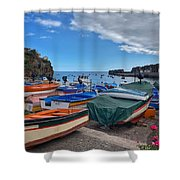 Colourful Boats Shower Curtain