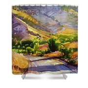 Columbia County Backroads Shower Curtain by Steve Henderson