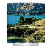 Columbia River Lakes Shower Curtain