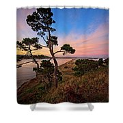 Columbia River Sunrise Shower Curtain