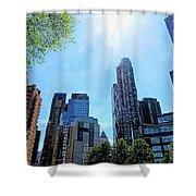 Columbus Circle At Mid Day Shower Curtain