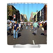 Columbus Day On Amsterdam Ave. Upper West Side, New York 2008 Shower Curtain