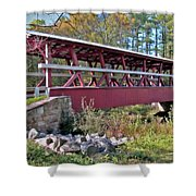 Colvin Covered Bridge Shower Curtain