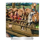 Come Aboard There's Plenty Of Room Ark Shower Curtain