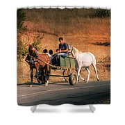 Come Back Home Before Dusk Shower Curtain