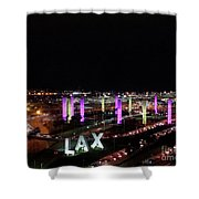Coming And Going In The Heart Of L A At Night-time Shower Curtain