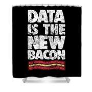 Computer Big Data Bacon Geek Pun Apparel Shower Curtain