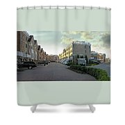 Concrete Canyon Pano Shower Curtain