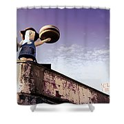 Coney Island Remnants Of Bygone Era  Ny  Shower Curtain