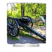 Confederate 20 Pound Parrott Rifles Shower Curtain