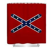 Confederate Stars And Bars T-shirt Shower Curtain