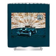 Convertible Vintage Car Shower Curtain