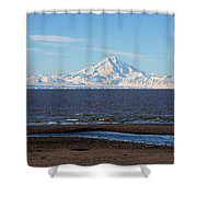 Cook Inlet And The Alaska Range From Ninilchik Shower Curtain