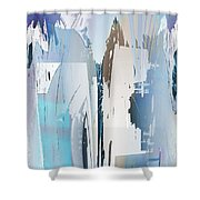 Cool Color Abstract Shower Curtain by Robert G Kernodle