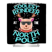 Coolest Reindeer At The North Pole Shower Curtain