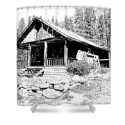 Coolidge Ghost Town Montana Shower Curtain
