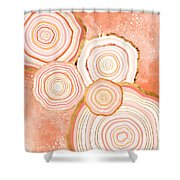 Coral Agate Abstract Shower Curtain