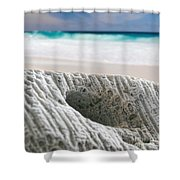 Coral By The Sea Shower Curtain