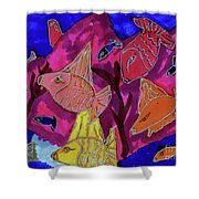 Coral Fish Shower Curtain