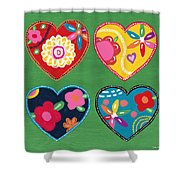 Corazon 1- Art By Linda Woods Shower Curtain