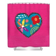Corazon 2- Art By Linda Woods Shower Curtain