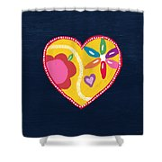 Corazon 4- Art By Linda Woods Shower Curtain