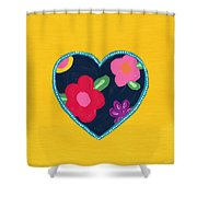 Corazon 5- Art By Linda Woods Shower Curtain