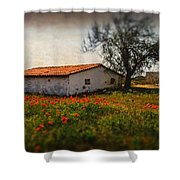 Corn Poppies Shower Curtain by Okan YILMAZ