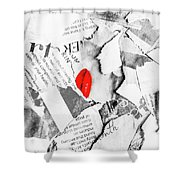 Cosmetic Collage Shower Curtain