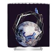 Cosmic Portal Shower Curtain by Bee-Bee Deigner