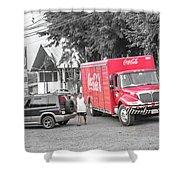 Costa Rica Soda Truck Shower Curtain