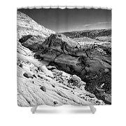 Cottonwood Creek Strange Rocks 7 Bw Shower Curtain
